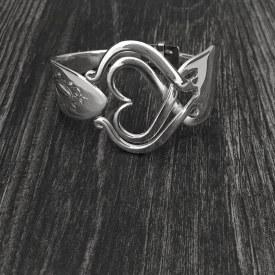 Fork Bracelet Enveloped Heart