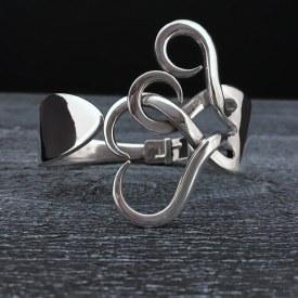 Fork Bracelet Intertwining Hearts