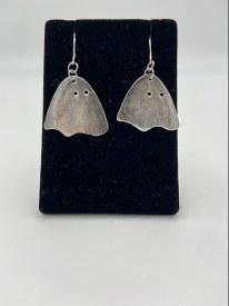 Upcycled Vintage Silverware Ghost Earrings