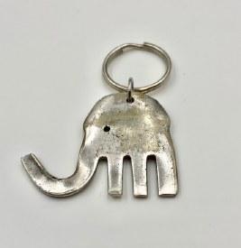 Upcycled Fork Elephant Key Ring