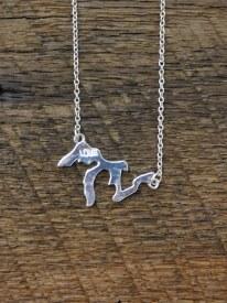 Necklace MI Lakes Silver