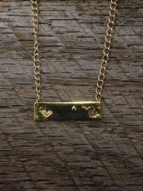 Necklace MI State Bar Gold