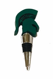 Bottle Stopper-MSU Sparty