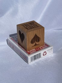 Wooden Trump Marker For Card Games