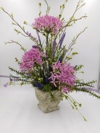 Summer Silk Garden Arrangement shades of purple