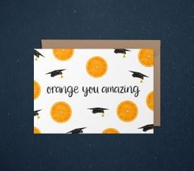 Card Congrats Orange
