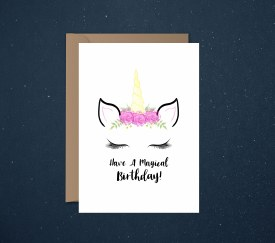 Card Birthday Unicorn