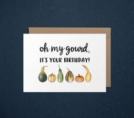 Card Birthday Oh My Gourd