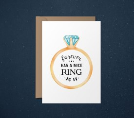 Engagement Card Forever Has A Nice Ring