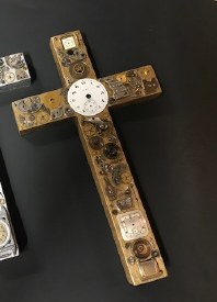Watch Part Wood Cross Gold