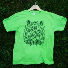 Save The Pollinators Youth Shirt Green/Blue