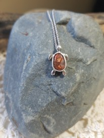 Agate Turtle 5 Sterling Silver