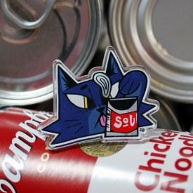 Soup Cat Acrylic Pin