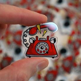 Rotary Grump Acrylic Pin