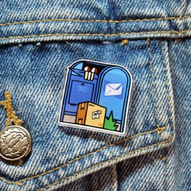 Mail Time Acrylic Pin