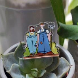 Farmer Gothic Acrylic Pin