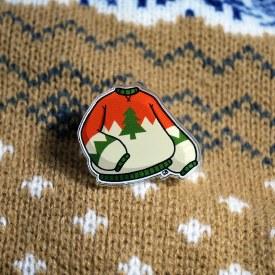 Ugly Sweater Acrylic Pin
