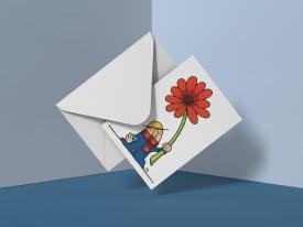 Flower Gremlin Greeting Card
