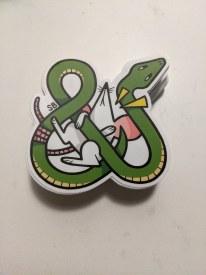 Snake & Mouse Sticker