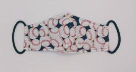 Face Mask Navy Baseballs 6-12