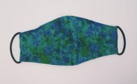 Face Mask Blue Grn Cloud Adult