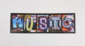 """Sticker Music 1.75"""" x 5.75             3/$8"""