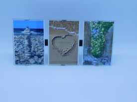 "Frame Clip ""I Heart you"" Frame Measures 13"" x 6"" w/ 4x6 Photos"