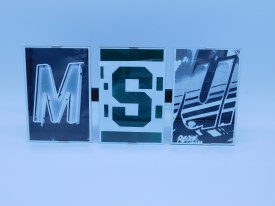 "Frame Clip ""MSU"" Frame measures 13"" x 6"" w/ 4x6 photos"
