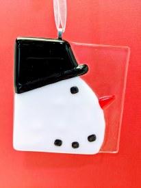 Fused Glass Snowman Profile