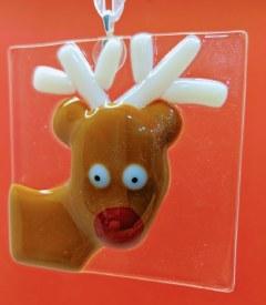 Fused Glass Reindeer