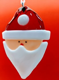 Fused Glass Santa