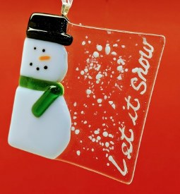 """Fused Glass """"Let it Snow"""""""