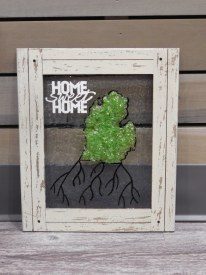 Home Sweet Home Mi Roots 8x10