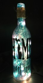 """Home Sweet Home"" Lighted Bottle"