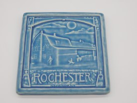 Rochester MI Tile 6 inch x 6 inch Freshwater Blue