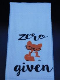 Towel Zero Fox Given