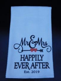 Towel Mr. and Mrs. Established 2019