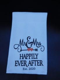Towel Mr. and Mrs. Established 2020