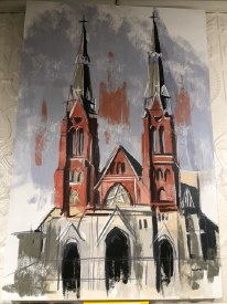 "Canvas Print 24""x36"" St. Anne Church, Detroit"