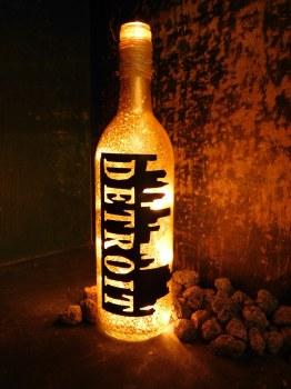 """Bottle """"Detroit"""" Skyline"""