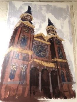 "Canvas Print 24""x36"" St. Mary Church, Greektown Detroit"