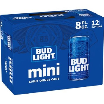 BUDLIGHT 12PK 8OZ CAN