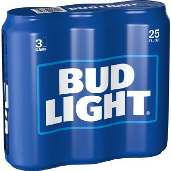 BUD LIGHT 3PK 25OZ CAN