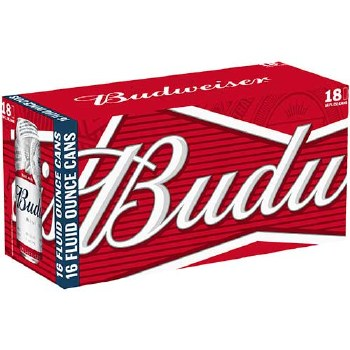 BUDWEISER 18PK 12 OZ CAN