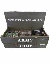 A TEAM VODKA GUN GIFT SET 750ML WITH 6 50MLS