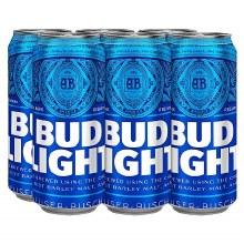 BUD LIGHT 6PK 12OZ CANS
