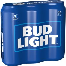 BUD LIGHT 3PK 25OZ CAN