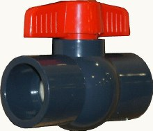 1in Socket Ball Valve, PVC Sch 40