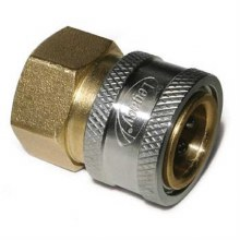 1/2in FPT Coupler, Brass