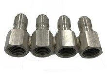 1/4in 4 Nozzle Holder, QC SS